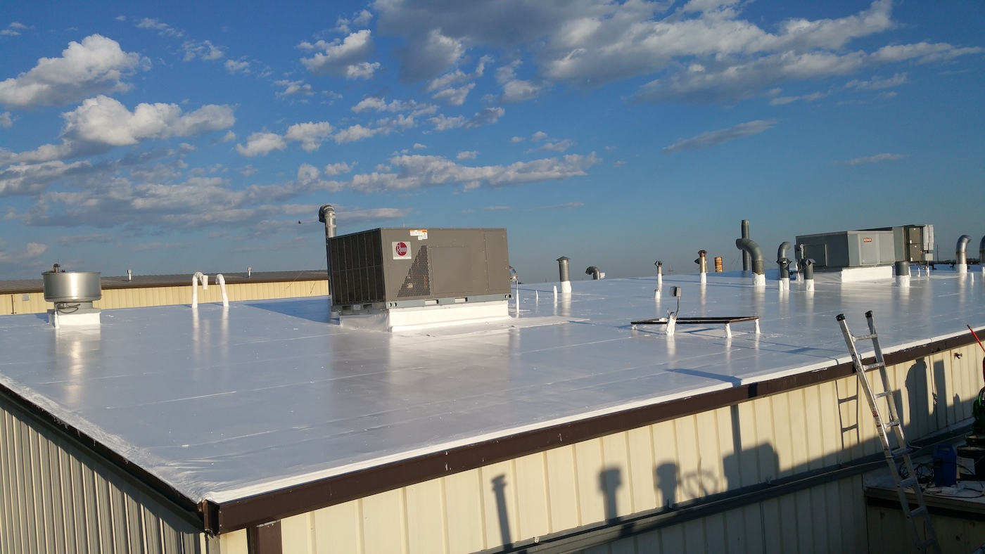 New Pvc Roof Coating Extends Life Bob Behrends Roofing