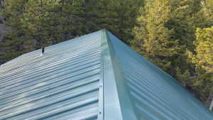 new metal roof ridge cap red feather lakes