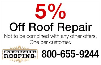 roof coupon for 5% off a roof repair