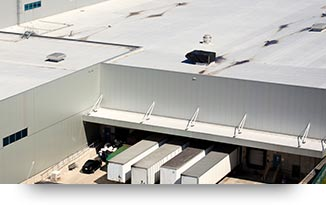 a commercial building roof