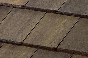 residential roof with concrete tiles