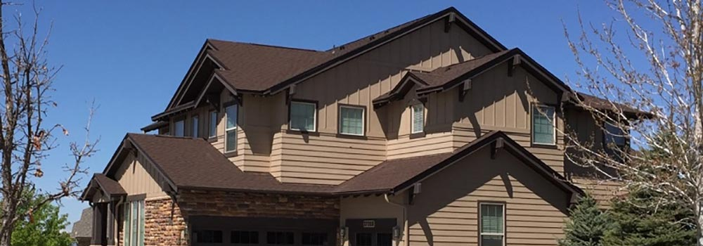 new asphalt shingle roof on house