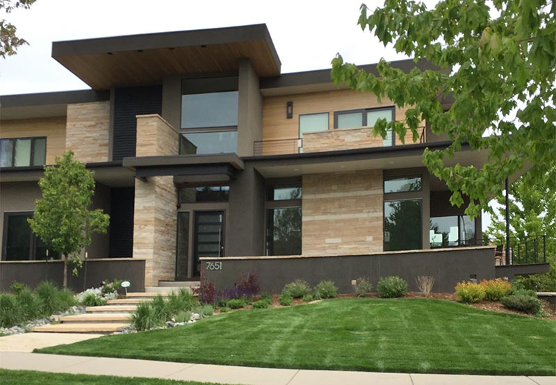 a flat roof we installed on this house in Denver