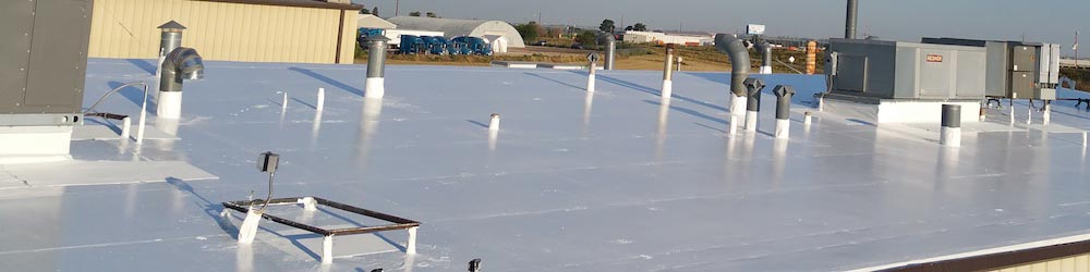 commercial roof of pvc with rc2000 coating