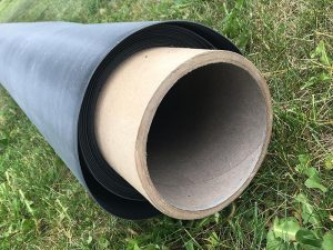 a roll of EPDM roofing material