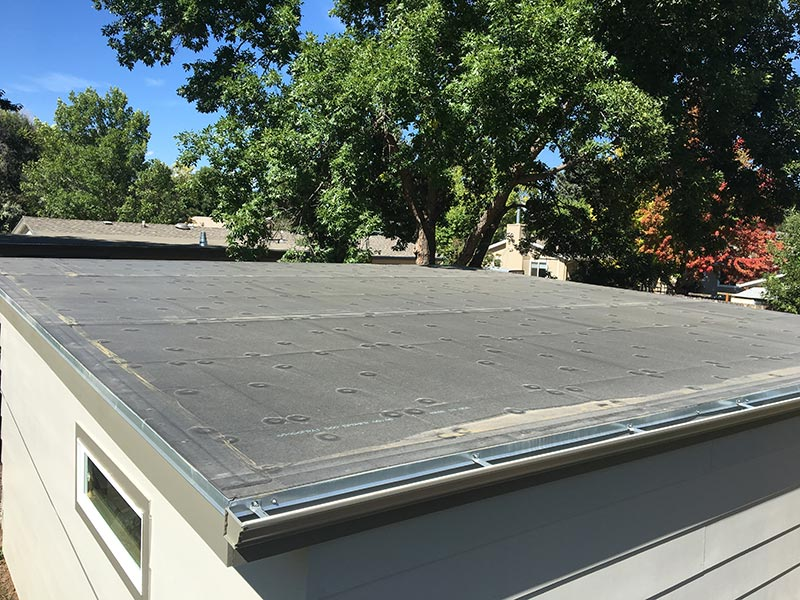 EPDM roof on a residential garage