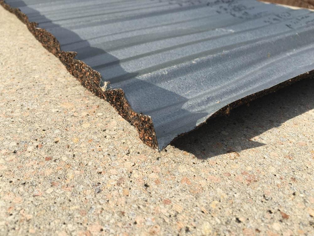 underside of Boral Steel metal roof