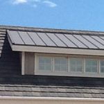 standing seam metal roof with shake