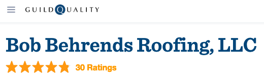 5-star reviews of Bob Behrends Roofing on Guild Quality