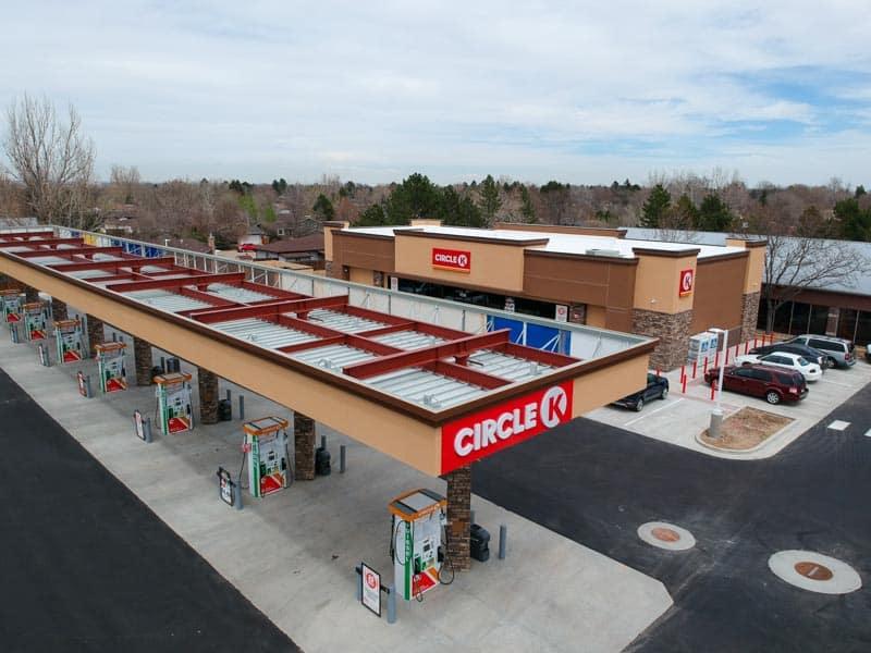 aerial view of Circle K