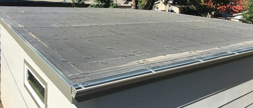 epdm rubber roof on residential garage