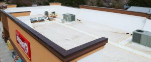 tpo roof on commercial building