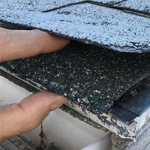 two layers of roofing shingles