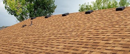 new asphalt shingle roof on house