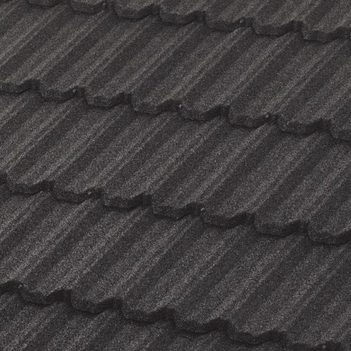 a metal tile roofing shingle example