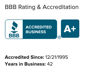 Bob Behrends Roofing's Better Business Bureau A+ grade